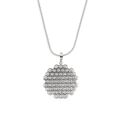 Halskette Tosca X-Mas aus Edelstahl mit Zirkonia