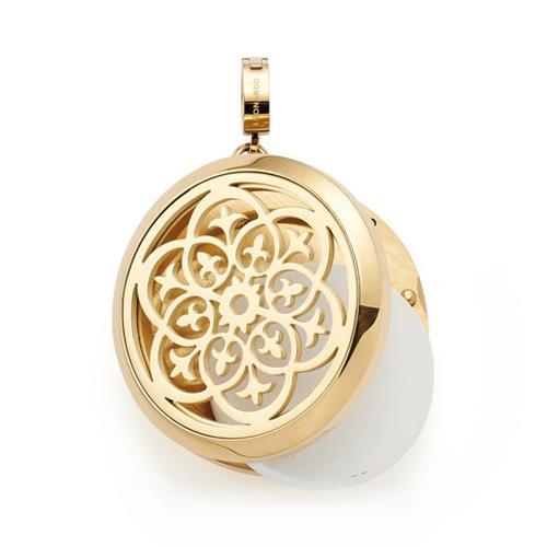 Damenkette Bellezza mit Medaillon aus Edelstahl, gold