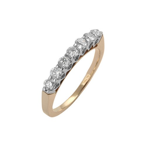 750er Goldring (18K): Ring Bicolor Diamant BIR4054