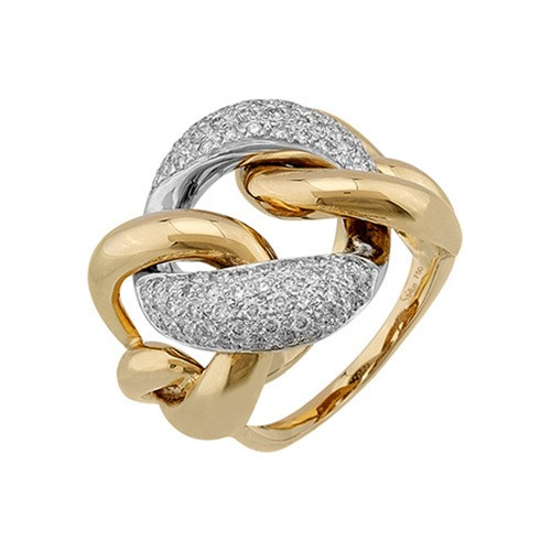 750er Goldring (18K): Ring Bicolor Diamant BIR4059