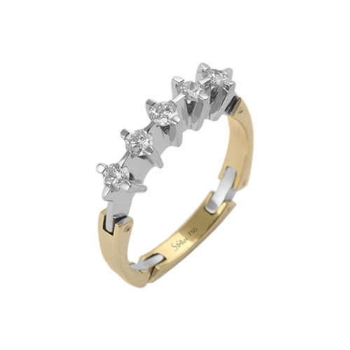 750er Goldring (18K): Ring Bicolor Diamant BIR4067