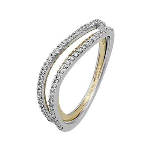 750er Goldring (18K): Ring Bicolor Diamant BIR4114