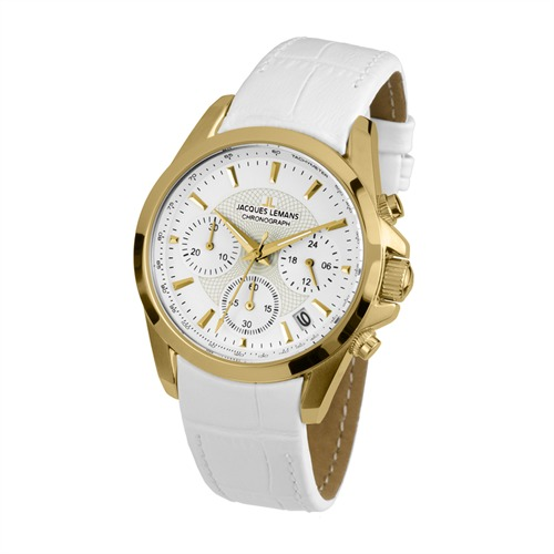 Chronograph Leder Damen Jacques Lemans 1-1752D