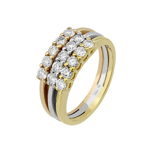 750er Goldring (18K): Ring Tricolor Diamant BIR4300