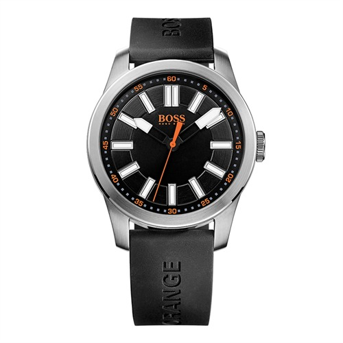Hugo Boss Orange Herrenuhr schwarz Kautschuk 1512936