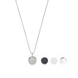 Medallion necklace Allegria for women in stainless steel