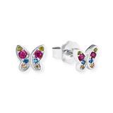 925er Silber Ohrstecker Schmetterling für Mädchen