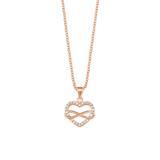 Damenkette Herz und Infinity aus Sterlingsilber, rose
