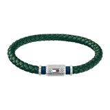 Herrenarmband Casual Core aus grünem Leder