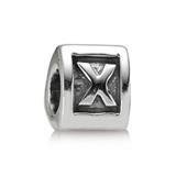 Silber Buchstaben Charm X
