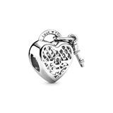 Charm Love You Lock aus 925er Sterlingsilber