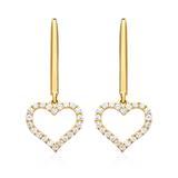 Herz Ohrringe aus 750er Gold mit Diamanten