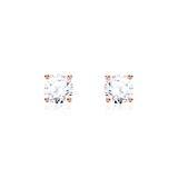 Diamantohrstecker für Damen aus 14-karätigem Roségold