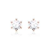 Diamantohrstecker für Damen aus 585er Roségold