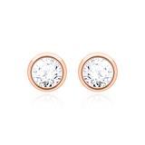 Diamantohrstecker für Damen aus 14K Roségold