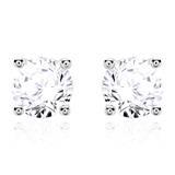 Diamant Ohrstecker für Damen aus 14K Weißgold