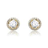Damen Ohrstecker aus 14-karätigem Gold mit Diamanten