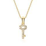 750er Goldkette Schlüssel mit Diamanten