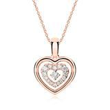 Herzkette aus 18K Roségold mit Diamanten