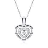 Kette Herz aus 18K Weißgold mit Diamanten