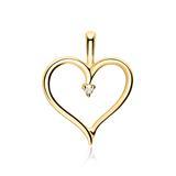 Anhänger Herz aus 585er Gold mit Diamant