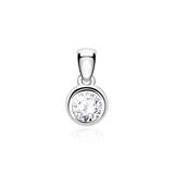 Pendant In 14ct White Gold With Diamond