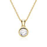 Damenkette aus 14K Gold mit Diamant