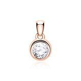 Diamantanhänger für Damen aus 14 karätigem Roségold