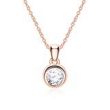 Diamantkette für Damen aus 14 karätigem Roségold