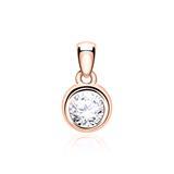Ladies Pendant In 14ct Rose Gold With Diamond