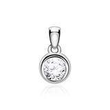 14ct White Gold Pendant For Ladies With Diamond