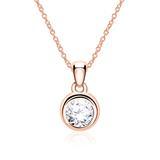 585er Roségold Halskette für Damen mit Diamant