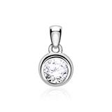 Pendant For Ladies In 14ct White Gold With Diamond