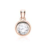 Pendant For Ladies In 14ct Rose Gold With Diamond