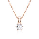 Diamantkette für Damen aus 585er Roségold
