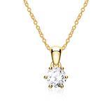 Halskette für Damen aus 14K Gold mit Brillant