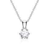 Diamantkette für Damen aus 14K Weißgold