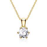 Kette für Damen aus 14K Gold mit Diamant