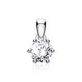 Diamantanhänger für Damen aus 14K Weißgold