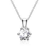 Diamantkette für Damen aus 585er Weißgold