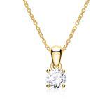 14K Goldkette für Damen mit Diamant