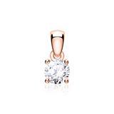 Kettenanhänger für Damen aus 14K Roségold mit Brillant