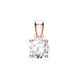 Damenanhänger aus 585er Roségold mit Diamant