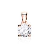 Diamantanhänger für Damen aus 14K Roségold