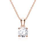 Diamantkette für Damen aus 14K Roségold