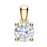 Diamantanhänger für Damen aus 14-karätigem Gold