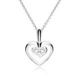 Halskette Herz für Damen 14K Weißgold mit Brillanten