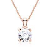Kette mit Diamantanhänger aus 14-karätigem Roségold