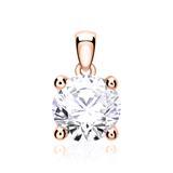 Anhänger für Damenketten aus 585er Roségold mit Diamant