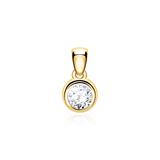 585 Gold Pendant With A Diamond